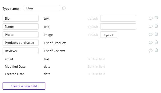 Bubble Fiverr Clone User Data Types Fields Tutorial