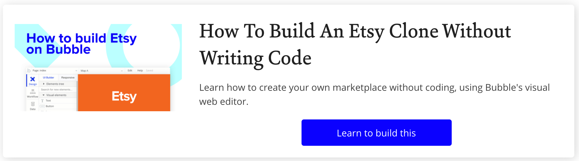 How To Build Etsy Clone in Bubble With No Code