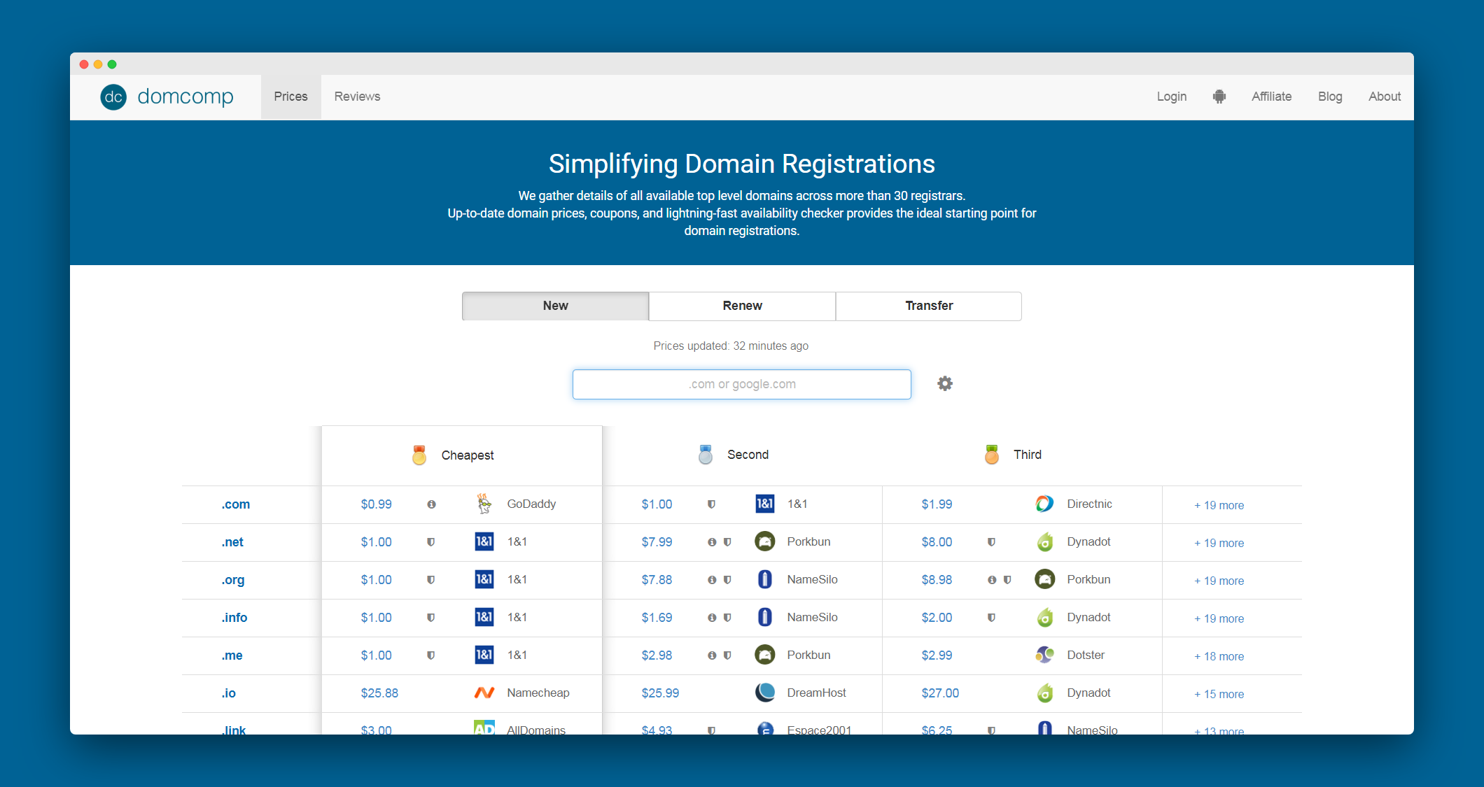 Domain And Compare