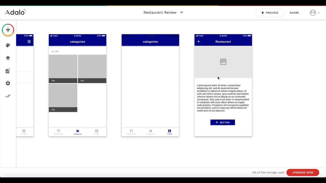 Creating a Restaurants Directory and Reviews App using Adalo
