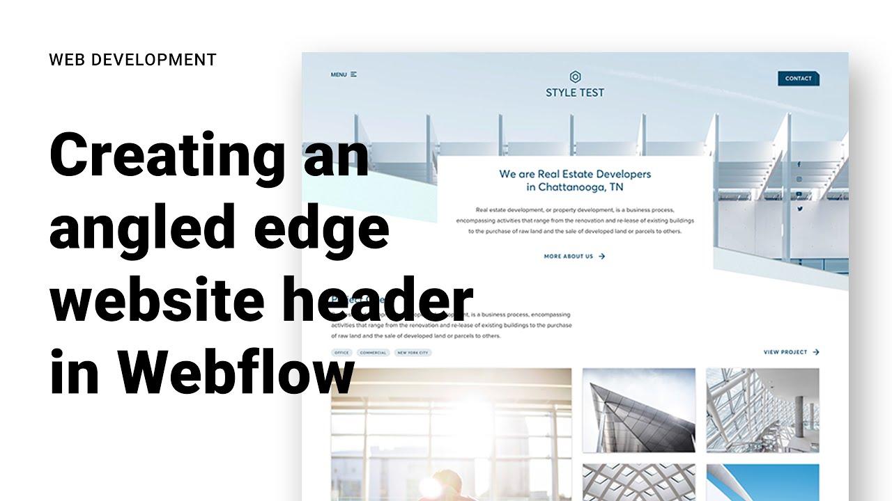 Creating an Angled-Edge website header in Webflow
