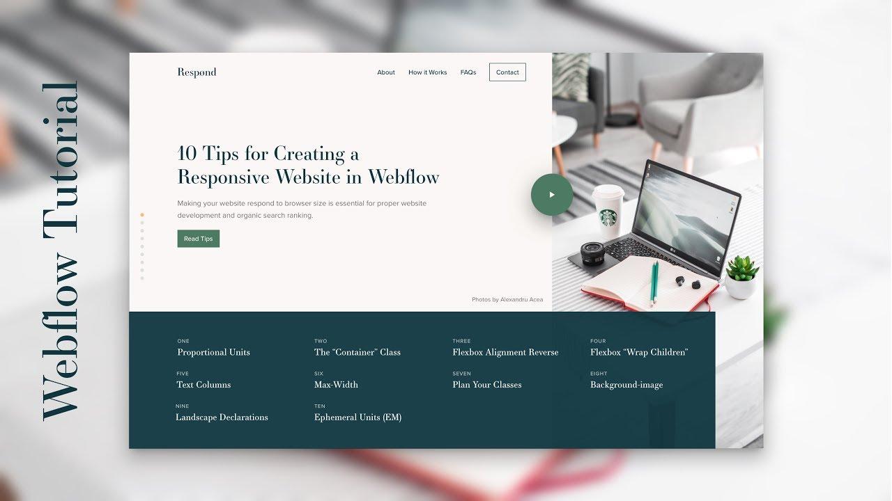 Ten tips for creating responsive websites in Webflow