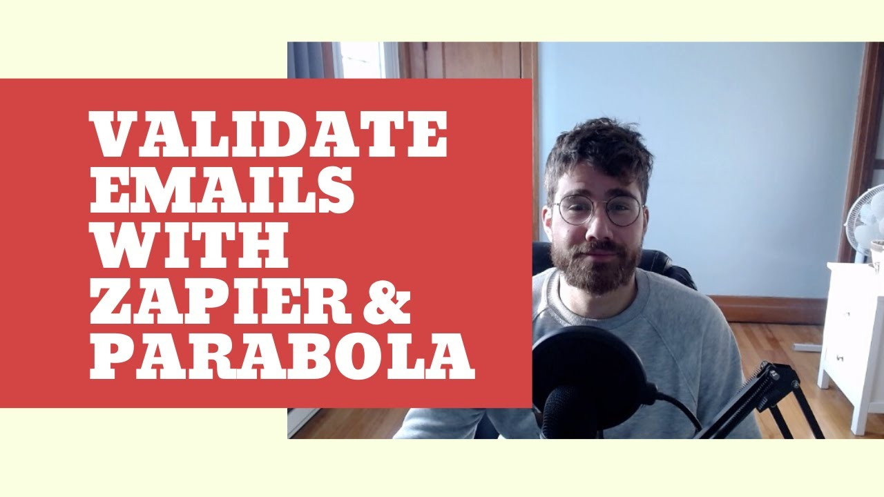 Validate Emails using Parabola and Zapier