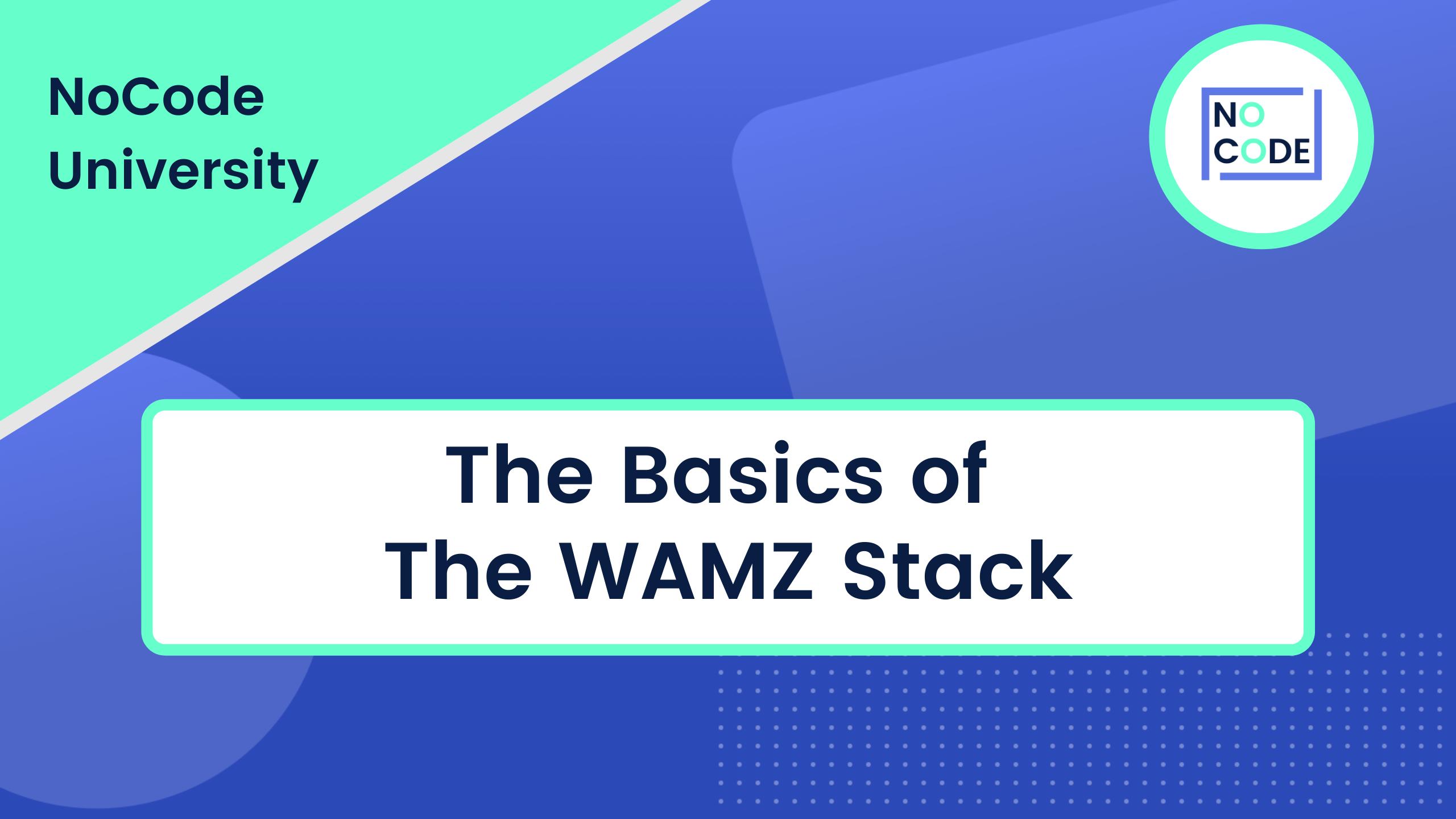 The Basics of the WAMZ Stack