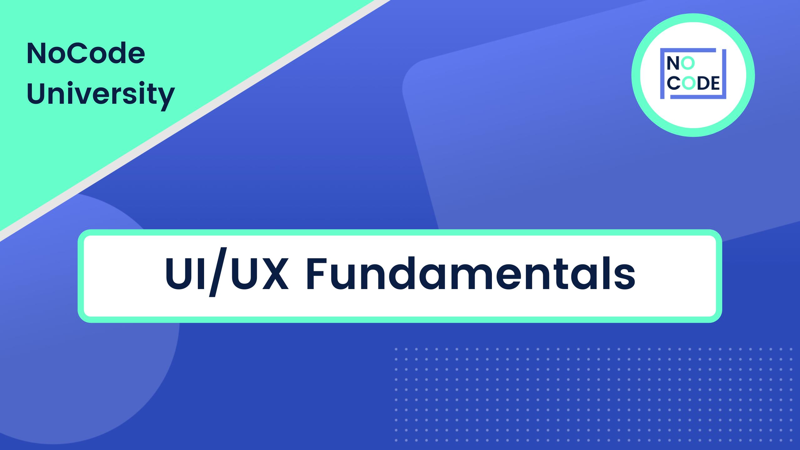 UI/UX Fundamentals