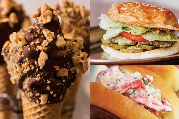 Messina Eats Huxtaburger - cremino choc top, huxtaburger, mr claws lobster roll