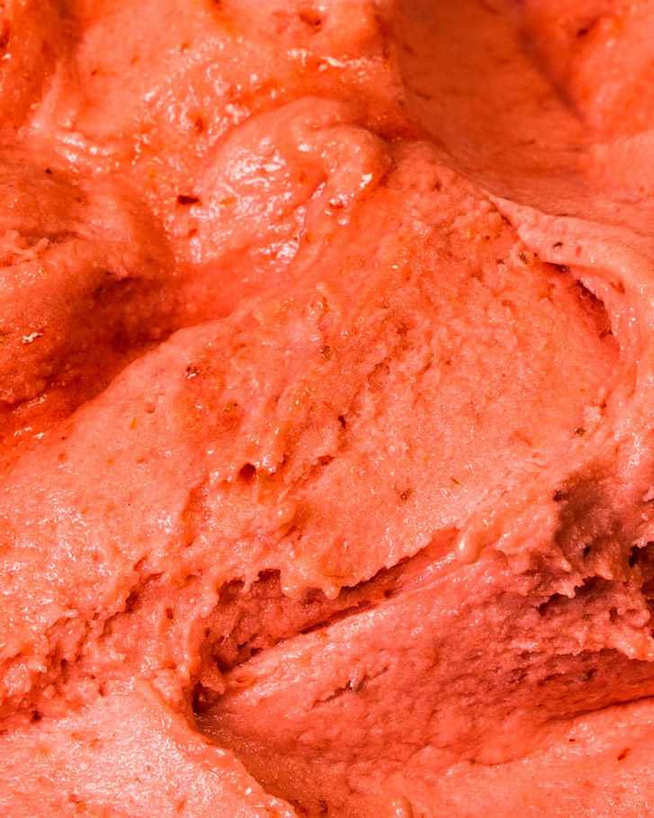 Messina's Strawberry Sorbet