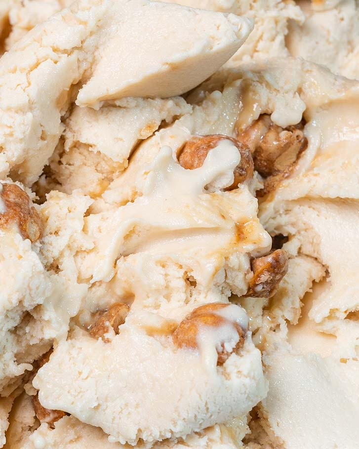 Messina's White Choc Hazelnut Gelato