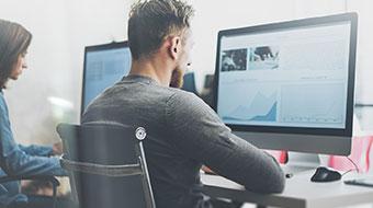 Digital office employee image