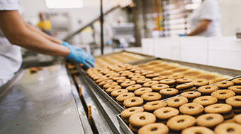 Food processing production line image