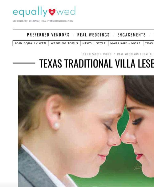 Texas Traditional Villa Lesbian Wedding