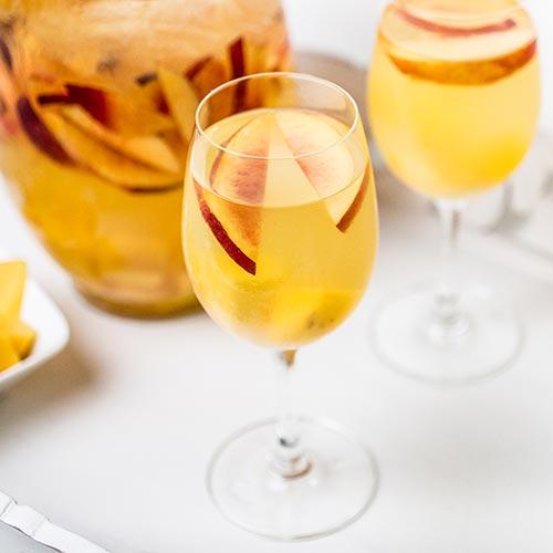 Mango Peach Sangria - Deluxe Bar