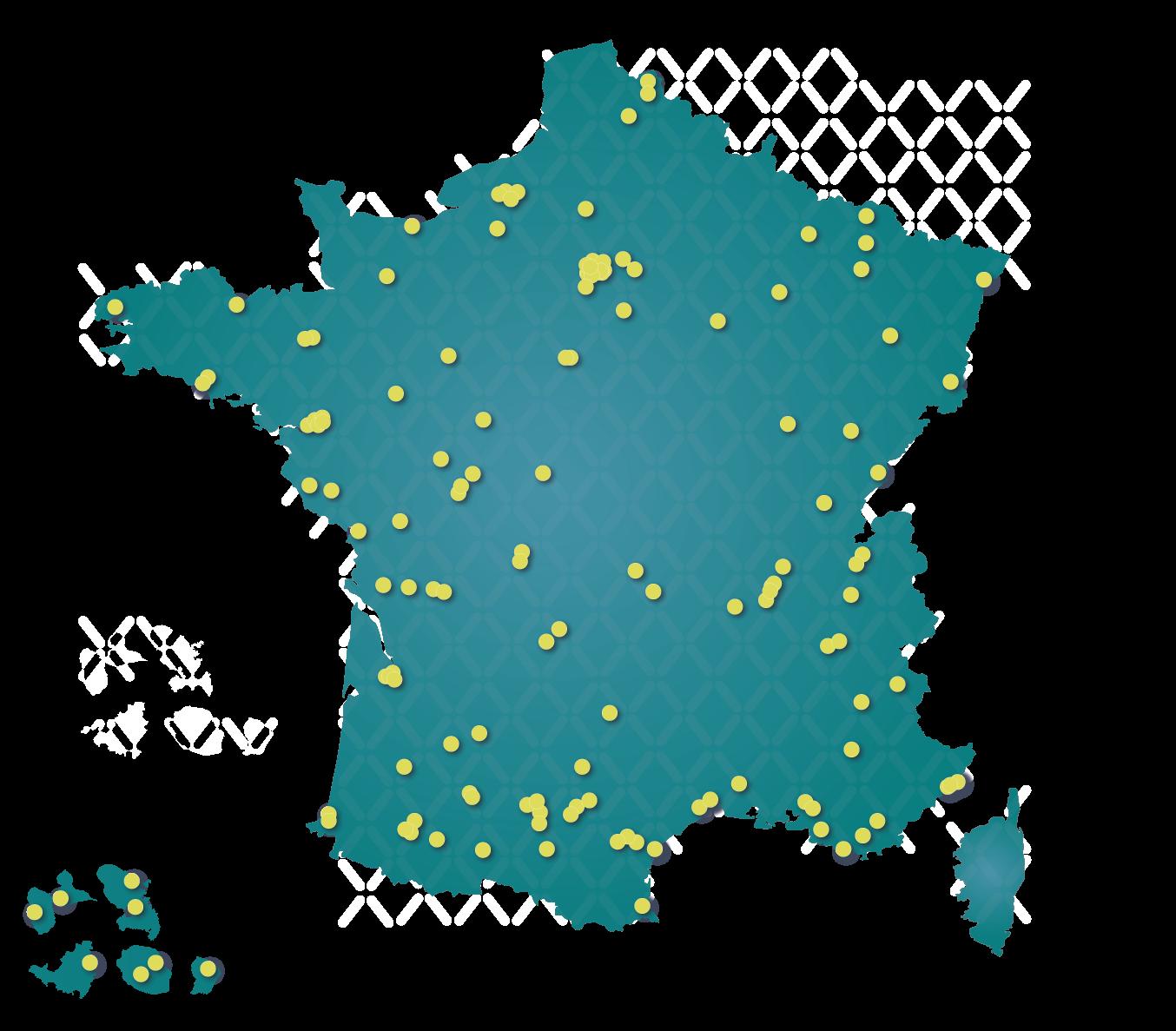 Carte du réseau Résadia