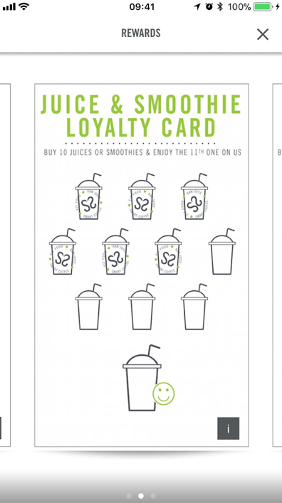 Crussh QSR restaurant app rewards loyalty stamp screenshot