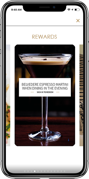 Epicurean app rewards on iPhone screenshot