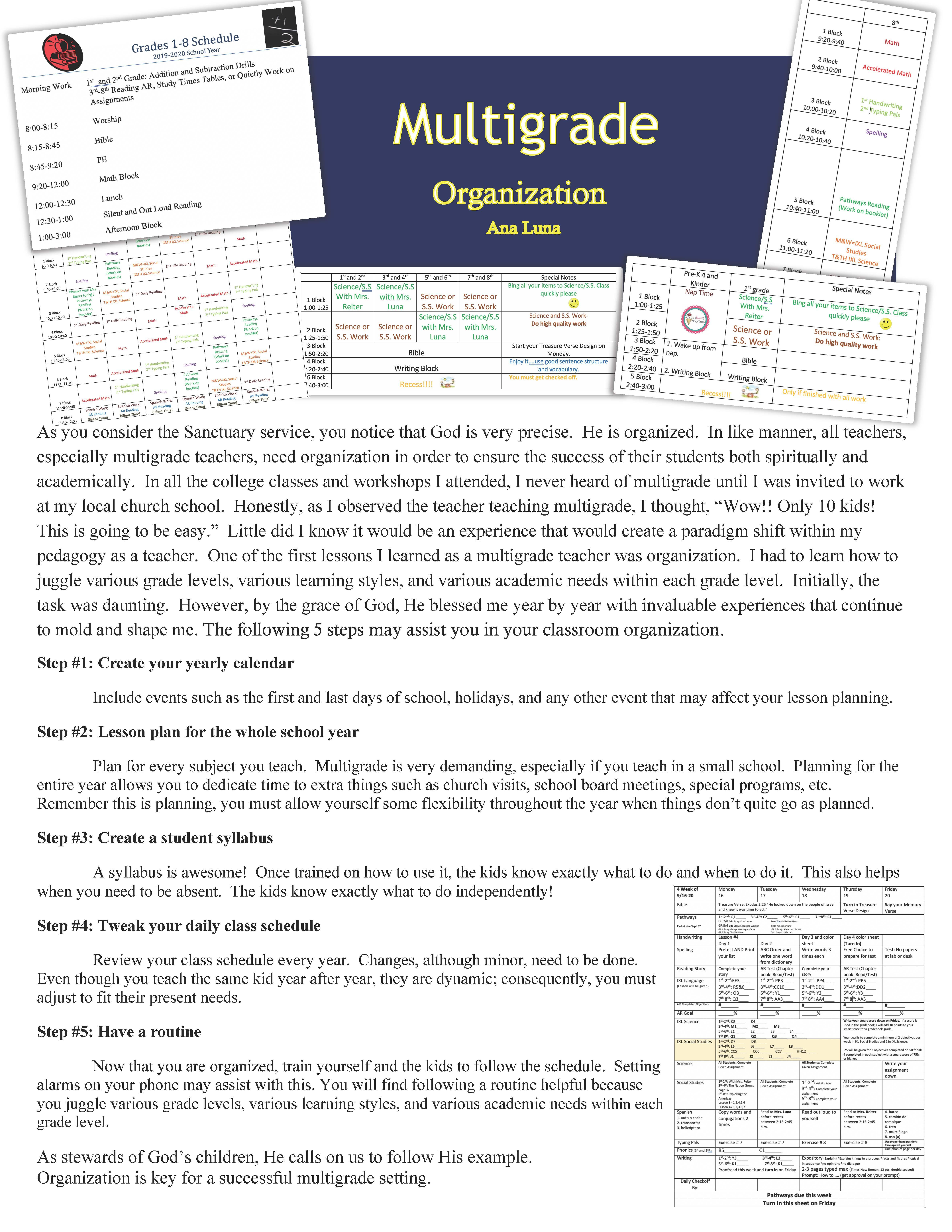 Multigrade Organization