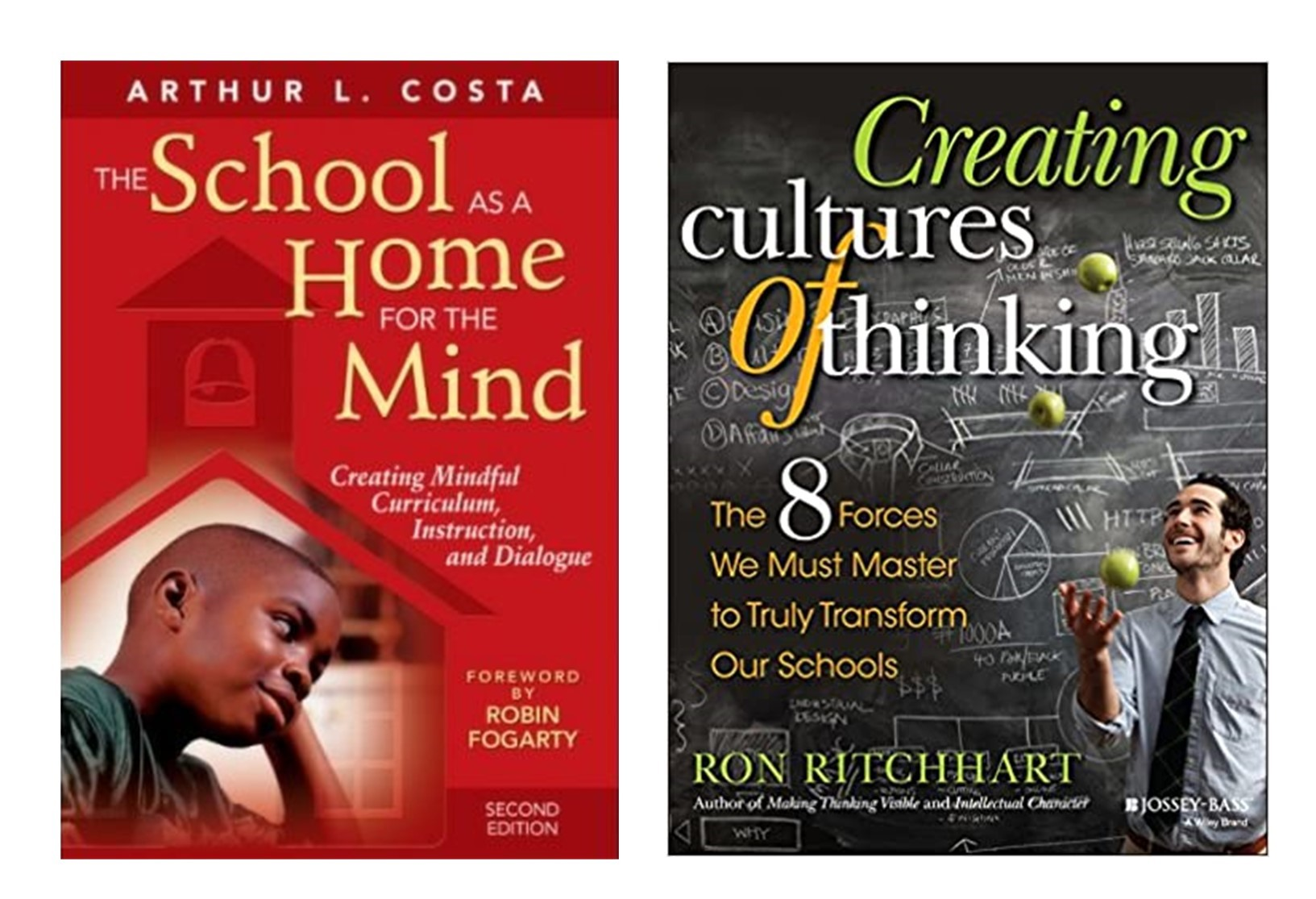 The School as a Home for the Mind:  Creating Mindful Curriculum, Instruction, and Dialogue, 2008; Creating Cultures of Thinking:  The 8 Forces We Must Master to Truly Transform Our Schools, 2015