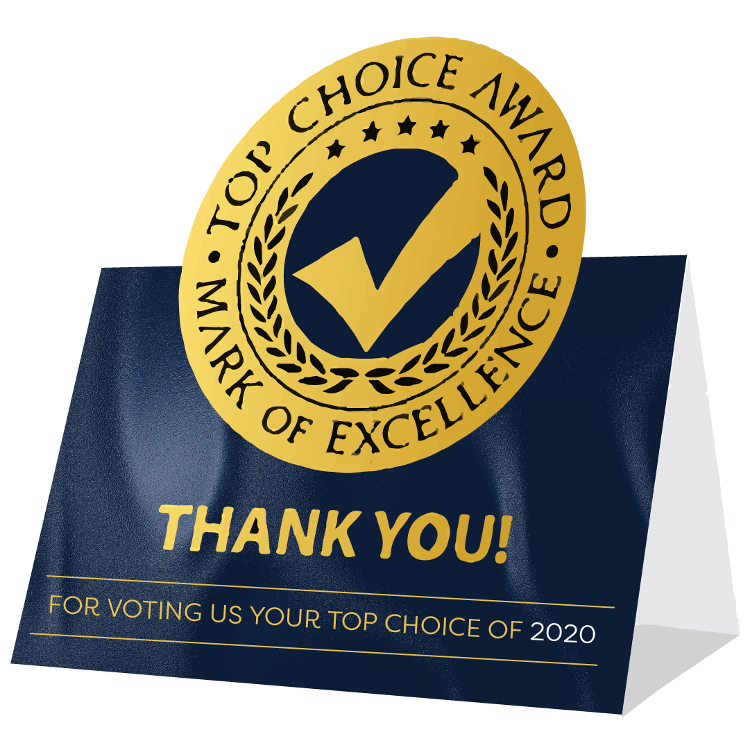 Top Choice Awards Voting is Now Open - November 1, 2019 - December 20, 2019