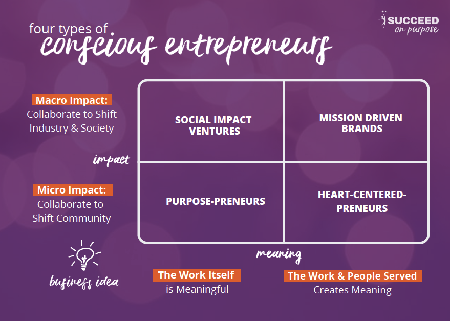 four types of conscious entrepreneurs grid
