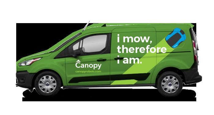 Canopy Robotic Mowing Van