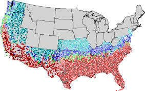 USDA Fire Ant Map
