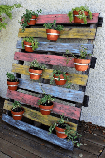Pallet Planter - 5 DIY Pallet Ideas Canopy Lawn Care Raleigh, NC