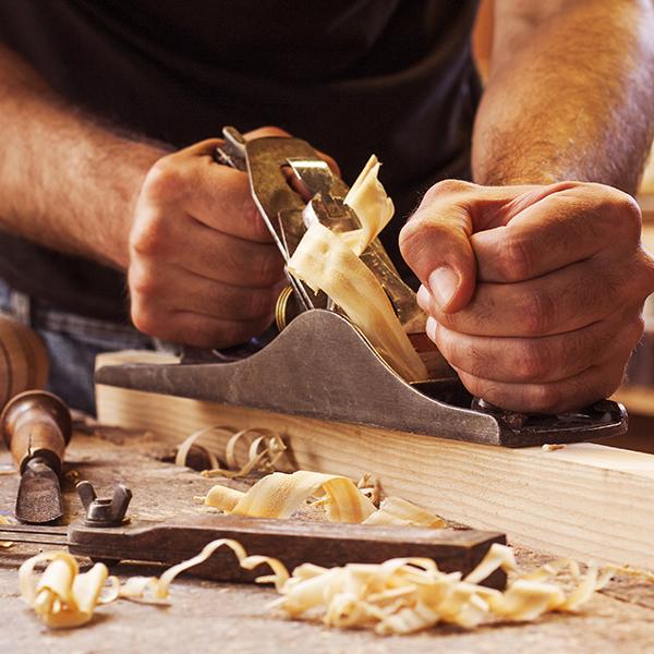 Sanding wood