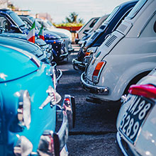 VW cars - classic - parked