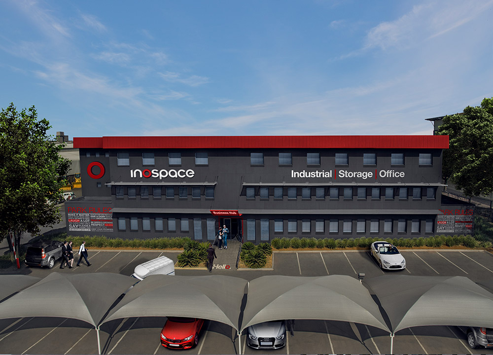 serviced office and industrial business park