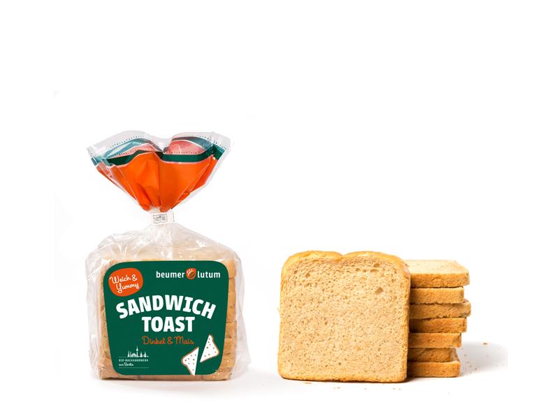 Bio Sandwich Toast Dinkel