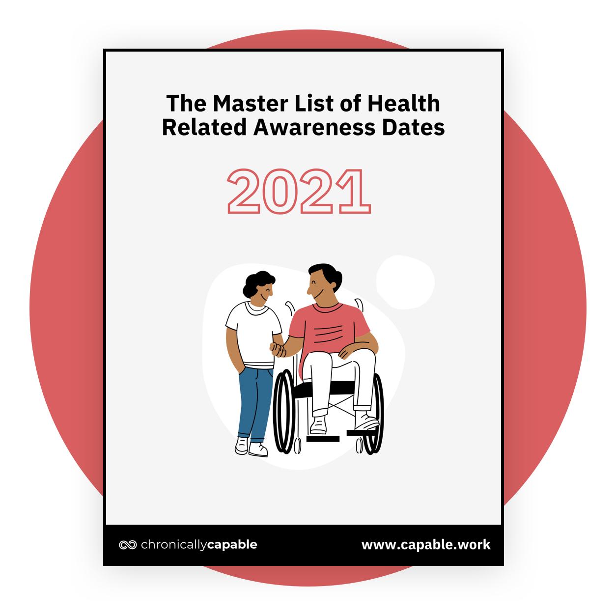 The Master List of Health Related Awareness Dates 2021 by Chronically Capable