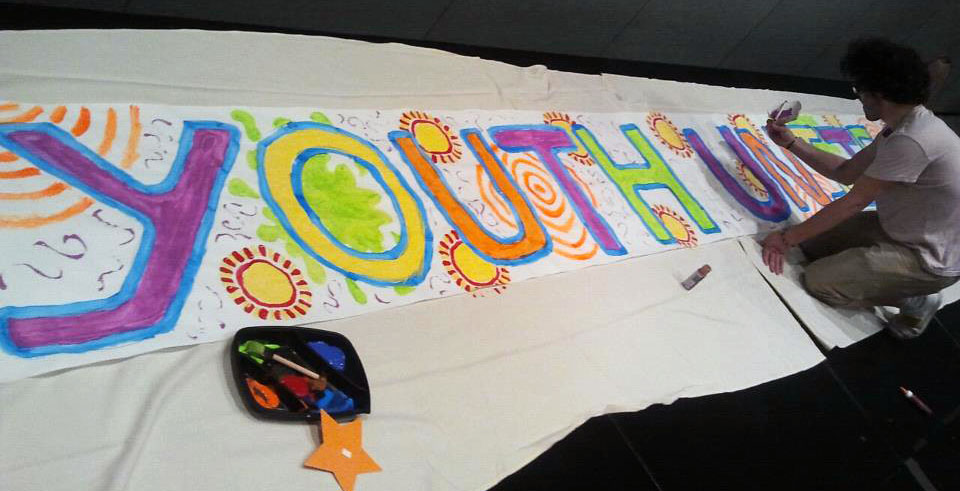 Youth painting banner