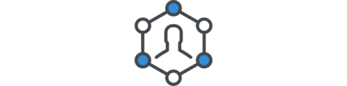 Person in network icon