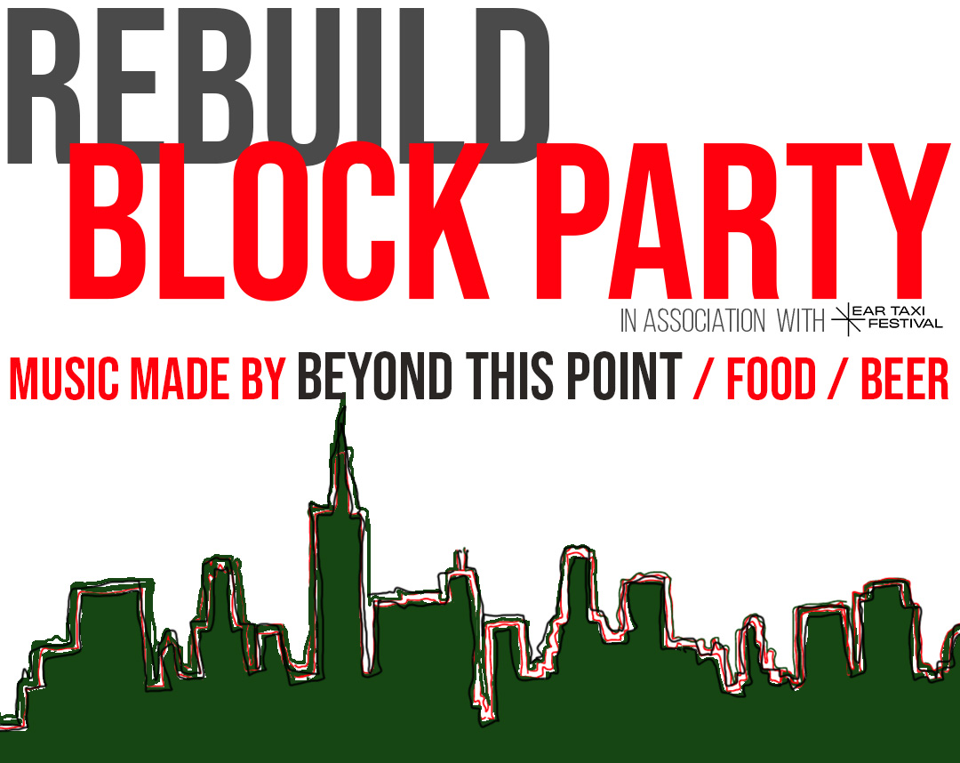 An add for the Rebuild Block Party