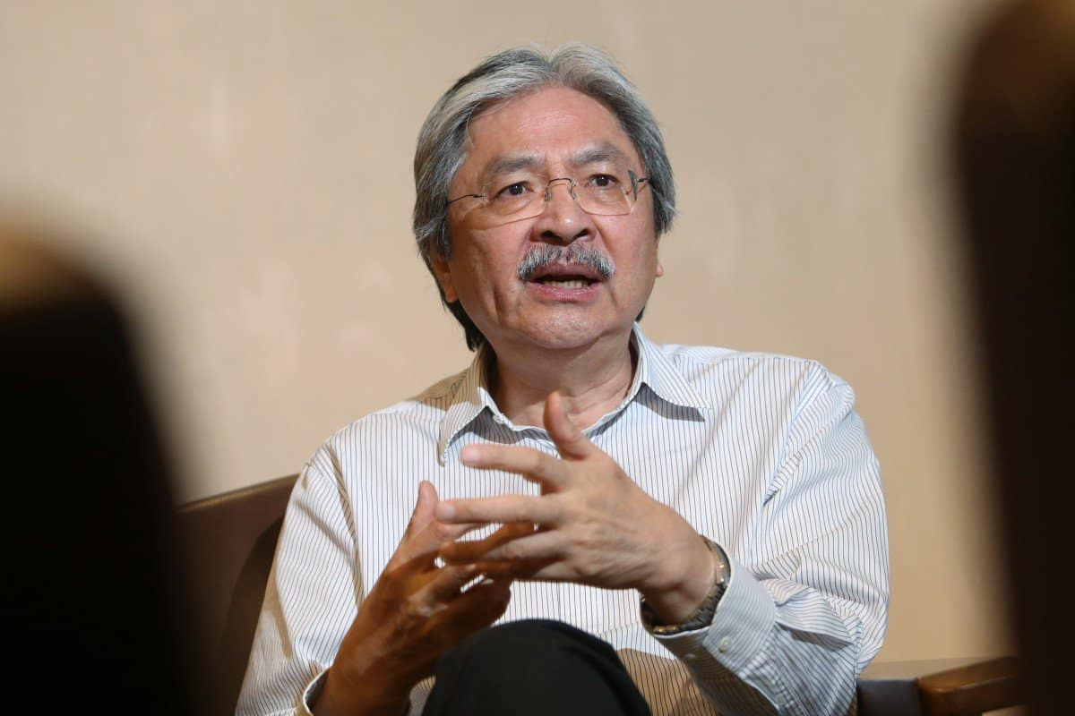 Former Hong Kong Financial Secretary John Tsang joins virtual insurer Bowtie as a senior adviser