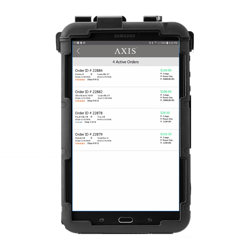 Axis Driver Tablet w/ App Lock, 4G LTE and Mount