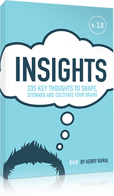 Insights: 335 key thoughts to shape steward and cultivate your brand by Kerry Bural