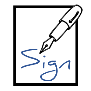 sign-in sheet icon