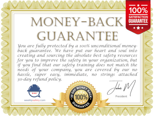 money back guarantee certificate