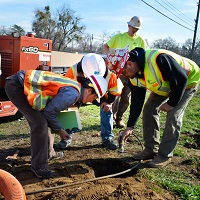 Work Around Underground Utilities, Construction