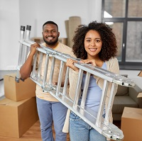 Weeklysafety.com exclusive bonus home safety topic that reminds employees and their families on practical safety tips to consider when using ladders and step stools around the house for indoor tasks or outdoor projects.