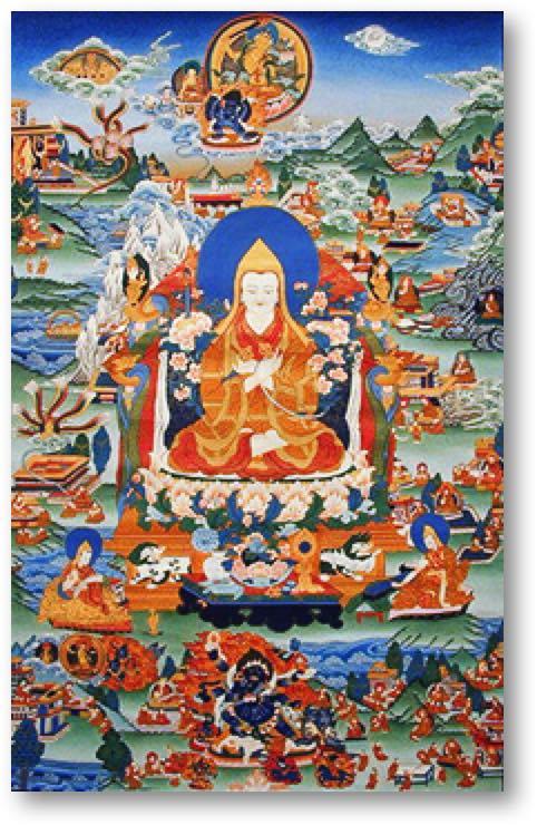 Tsong Khapa Thangka