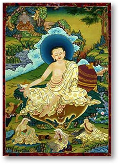Milarepa sacred thangka artwork
