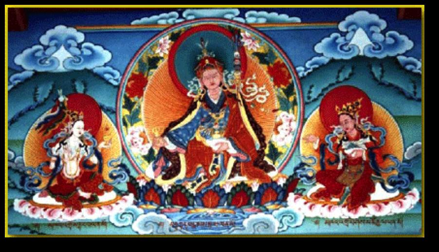 Padmasambhava sacred thangka artwork