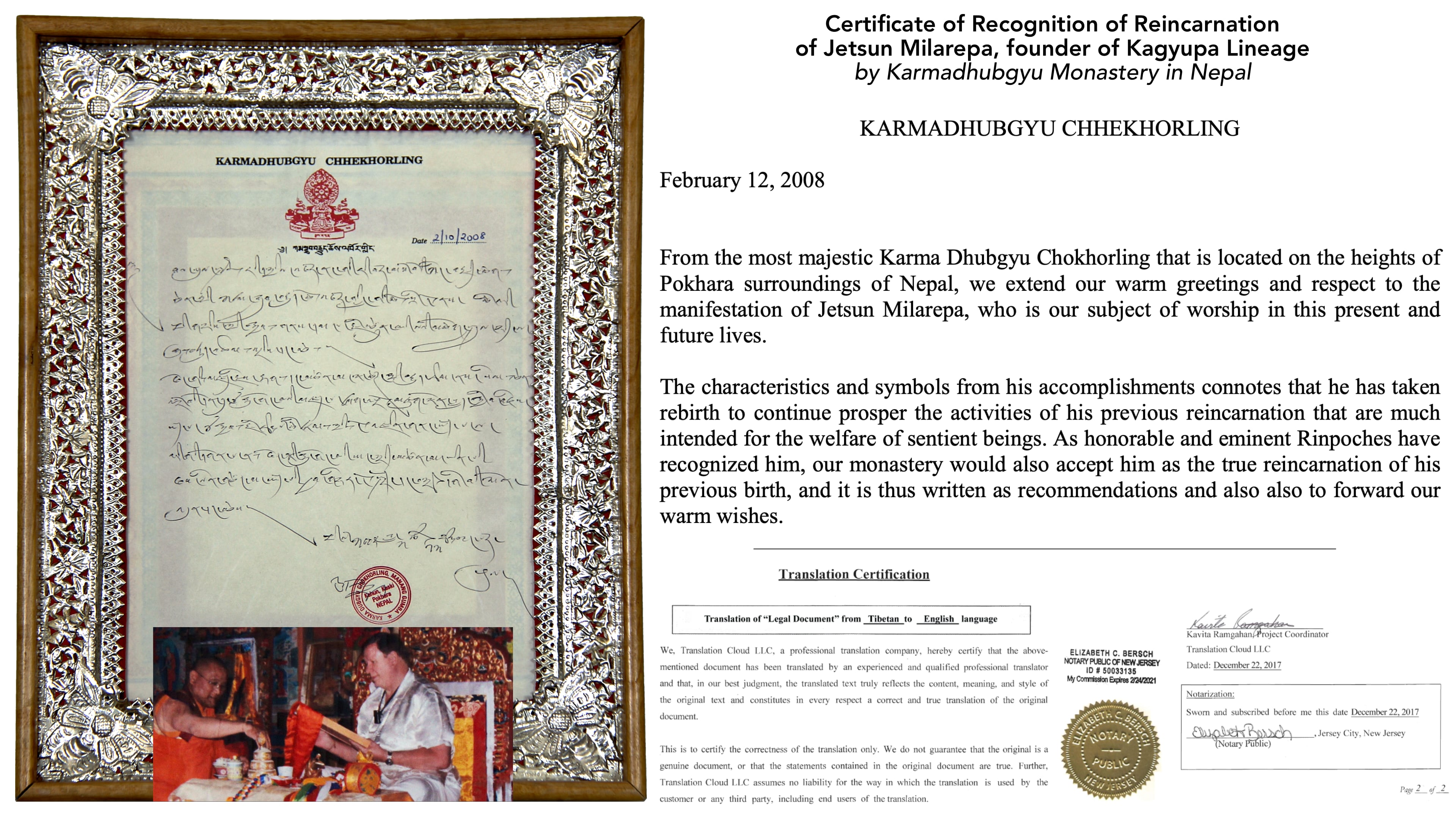 Certificates of Recognition and other activities
