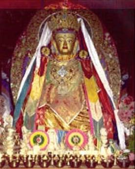 Statue of the Buddha Maitreya