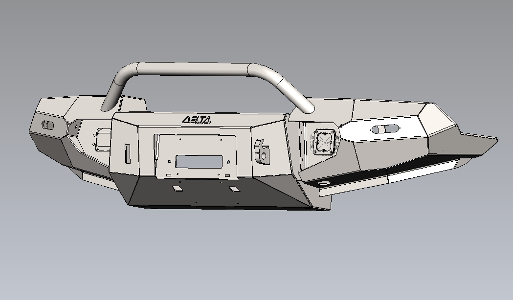 CAD model of FZJ-80 bumper