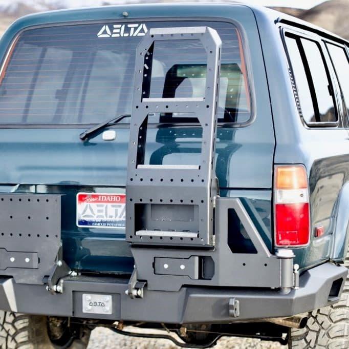 Ladder attachment, rear bumper
