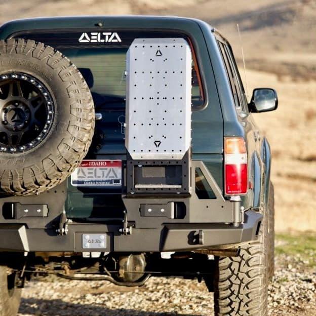 Ladder cover, rear bumper