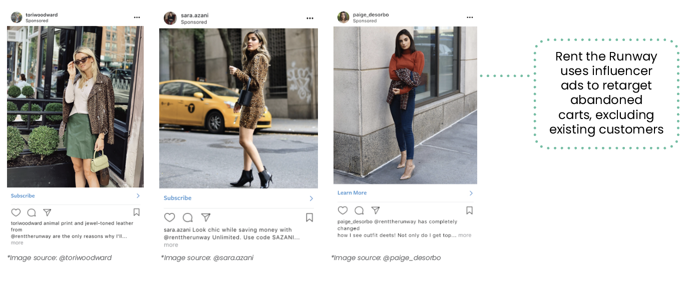 How to use influencer ads to retarget abandoned carts